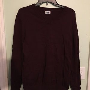 Men's M Old Navy Sweater (Cranberry)